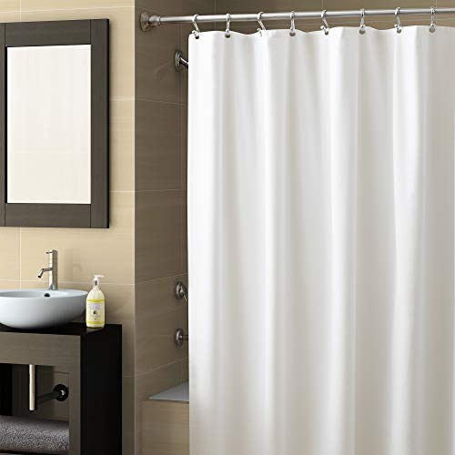 EXCELL Home Fashions Best Quality Vinyl Shower Curtain Liner, Mold and Mildew-Resistant...