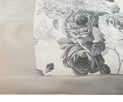RICAMI FIORENTINI BALDI Colcha de raso de algodón 100% para primavera/verano, 100 g, producto artesanal Toscano (180 x 260 cm), color gris