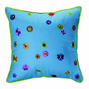crib bedding and baby bedding bacati valley of flowers turquosie embroidery pillow