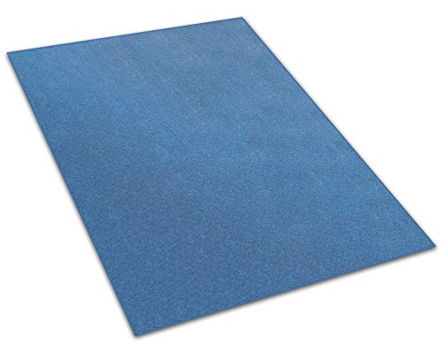 Koeckritz 8'x12' - Cobalt - Indoor/Outdoor Area Rug Carpet, Runners & Stair Treads with a Premium Nylon Fabric Finished Edges.