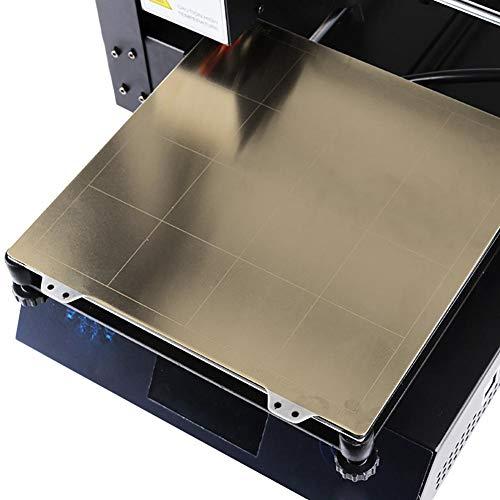 Kitabetty Placa de Acero de la Plataforma de la Cama Caliente, Accesorios de Impresora magnéticos del Lado Pei 3D de la Etiqueta engomada B para Anet A8 A6 E12 TronXY X3s