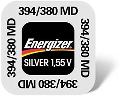 Energizer 394 380 SR936SW de plata Batería para cámara fotográfica con adhesivo de óxido de reloj de pulsera para hombre (5 pilas)