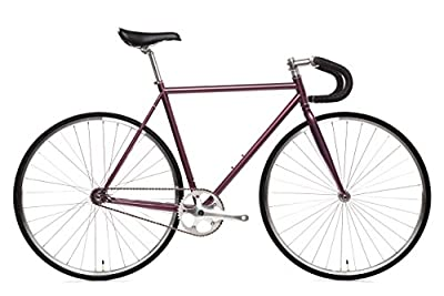 State Bicycle Fixed Gear/Single Speed Bike Drop Bar, Nightshade, 55cm/Medium