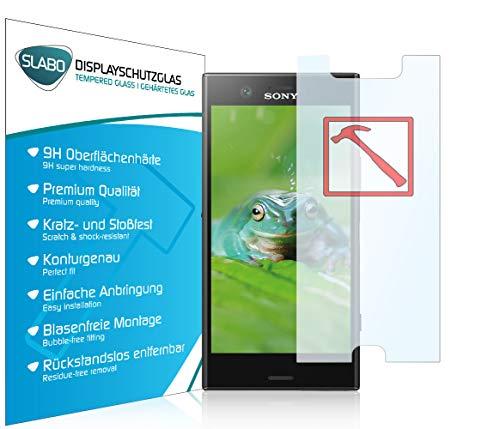 Slabo 3 x Lámina de Vidrio Premium para Sony Xperia XZ1 Compact Protectora Protector de Pantalla Templado Tempered Glass Claro dureza 9H