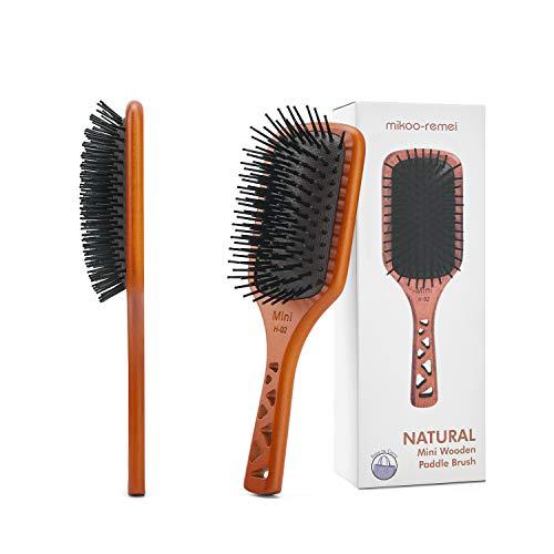 MIKOOREMEI Hair Brush Wooden Paddle Hair Brushes for Women Men and Kids Health and Massage Scalp Brush Everyday Brush Enhance Shine amp Health for Hair Smoothing Massaging DetanglingSmall