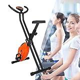 ZhiLianZhao Bicicleta Estática Plegable, Entrenador Casero Plegable, Monitor LCD,...