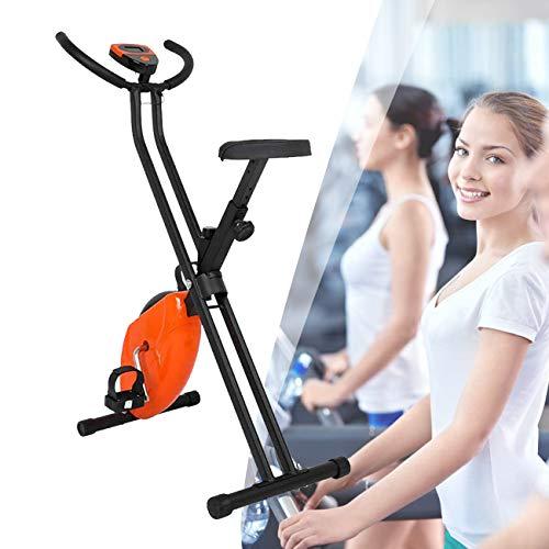 ZhiLianZhao Bicicleta Estática Plegable, Entrenador Casero Plegable, Monitor LCD, para Entrenamiento Cardiovascular y Entrenamiento de Fuerza
