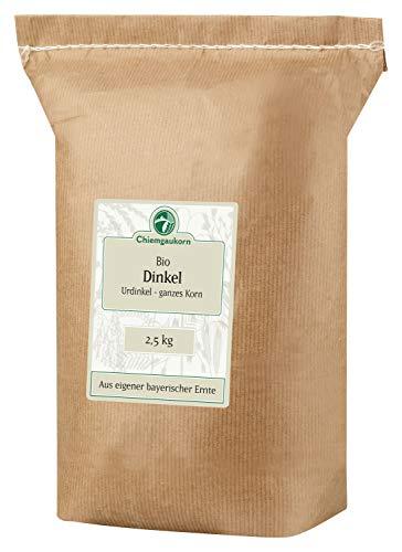 Chiemgaukorn Bio Dinkel Ganzes Korn 2,5 kg, Urdinkel