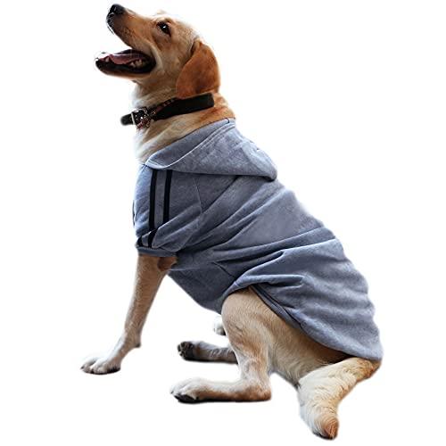 Eastlion Hunde Warm Hoodies Mantel Kleidung Pullover Haustier Welpen T-Shirt Grau 3XL