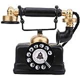 SunshineFace Adorno de Escritorio, Antiguo Teléfono Antiguo Retro Vintage con Cable Fijo Teléfono...