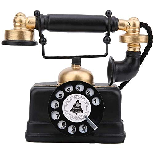 iFCOW Teléfono antiguo hogar accesorio decoración vintage retro teléfono fijo ornamento