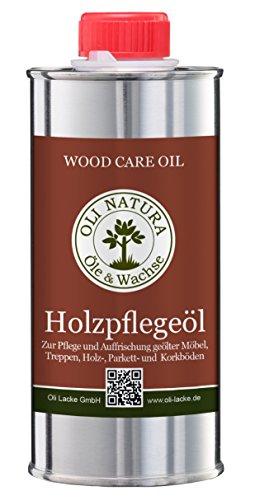 OLI-NATURA Holz-Pflegeöl für innen (geeignet für Möbel, Treppe, Parkett und Holz-Boden), 0.25 Liter, Farblos/natur