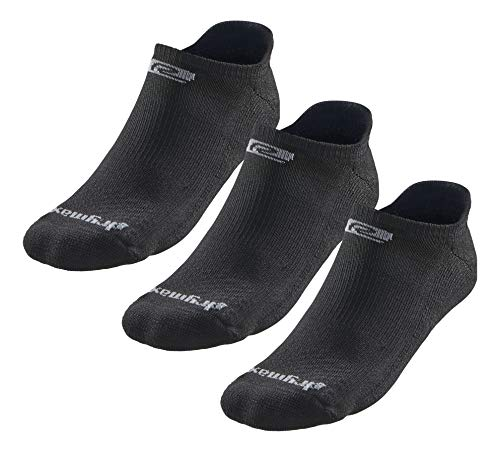 Drymax R-Gear No Show Running Socks for Men & Women (3-pairs) | Super Breathable Keep Feet Dry, Comfy and Blister-Free, S, Black, MediumCushion