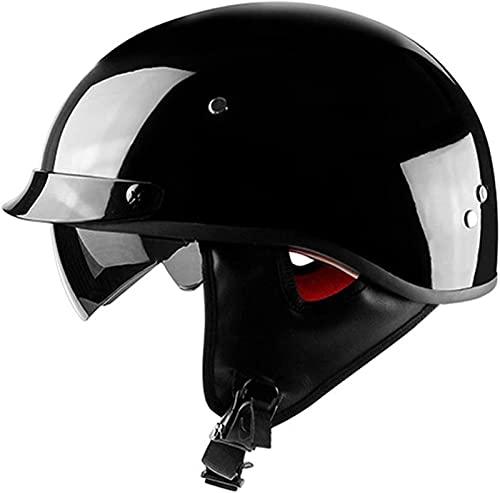 Classic Retro Cromwell Helme Motorrad Halbhelm Demi Jet Für Roller Roller Bike Offener Helm Deutsch Classic ECE Zugelassen Für Damen Herren Erwachsene B,Xl