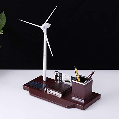 ChaRLes 323 × 160 × 409Mm Viento Molino Eólico Turbina Solar Powered Generador Educación Bricolaje Modelo Organizador De Escritorio