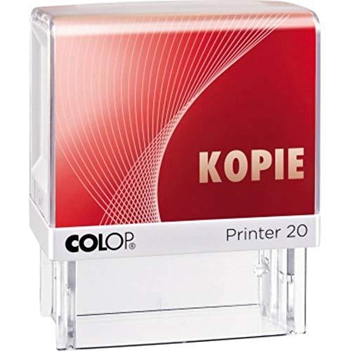COLOP Textstempel Printer 20 mit Text KOPIE, Abdruckfarbe rot