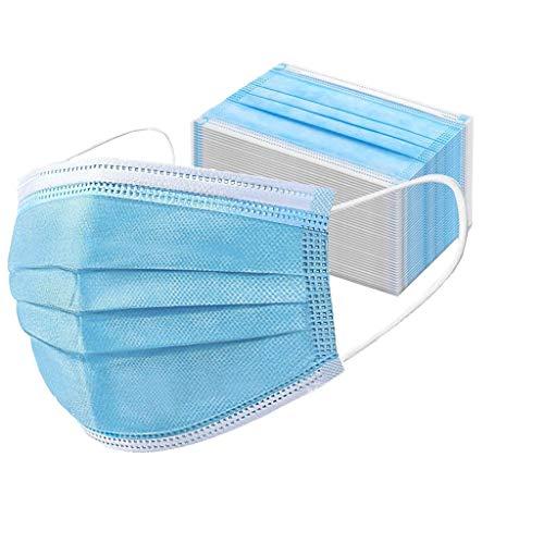 Einfarbiger Gesicht Mund und Nase Protectio Gesund und Hygienisch Einmal Verwenden Staubdicht Winddicht Komfortabel Atmungsaktiv 50pcs Grün