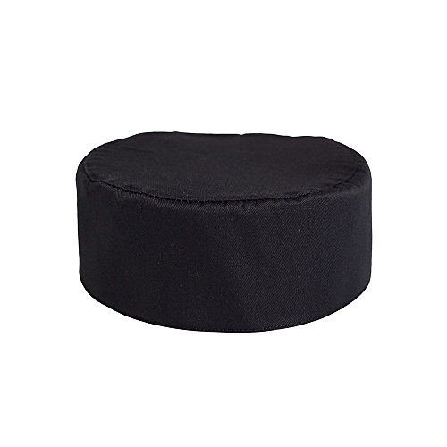 Pill Box Chef Cap, Black