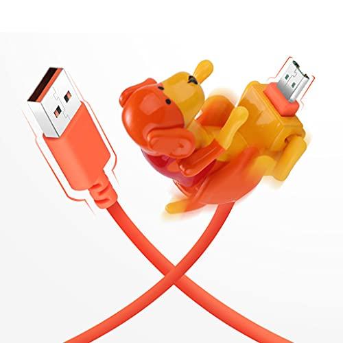 Wenyounge Cable de Datos Universal de 1 M USB a Micro USB Swing Humping Spot Cable de Carga para Perros para teléfono móvil Tableta de teléfono móvil