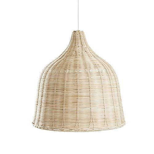 LIFA LIVING Lámpara Moderna de techo Colgante, Lámpara Mimbre para Cocina, Lámpara Bambú boho de Techo para Dormitorio 46 x 46 cm.