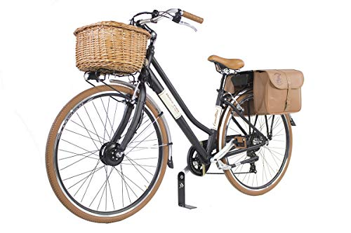 Canellini E-Bike ebike Dolce Vita by Pedalata assistita Bicicletta Elettrica Bici Citybike CTB Donna Vintage Retro Alluminio Nero