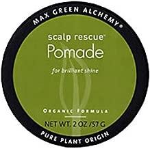 Scalp Rescue Pomade Puck (2 Ounces) - Organic Formula For Brilliant Shine, Deep Hair Conditioning, Unisex, Nourishing, Color Safe, Prevents Split Ends, Vegan