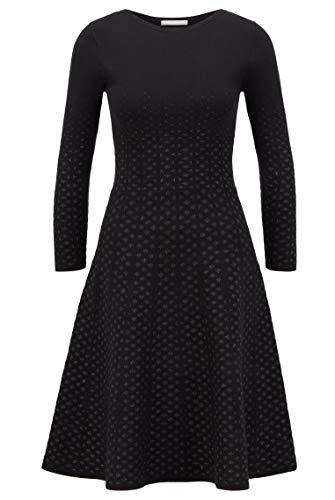 BOSS Damen C_famme L ssiges Kleid, Black1, XS EU