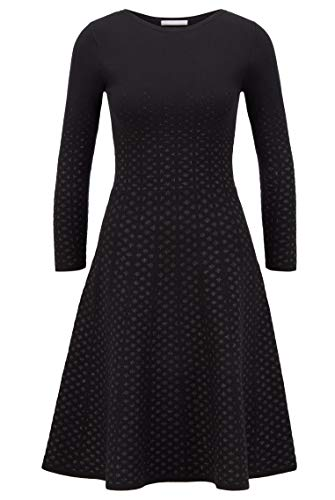BOSS Damen C Famme Kleid aus Jacquard-Strick mit Langen Ärmeln und Dégradé-Effekt