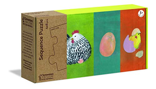 Clementoni - 16226 - Sequence Puzzle - In Natura - puzzle bambini 3 anni, gioco educativo, puzzle sequenza - Made in Italy - Play For Future, cartone 100% riciclato