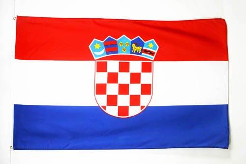 AZ FLAG Flagge Kroatien 150x90cm - KROATISCHE Fahne 90 x 150 cm feiner Polyester - flaggen