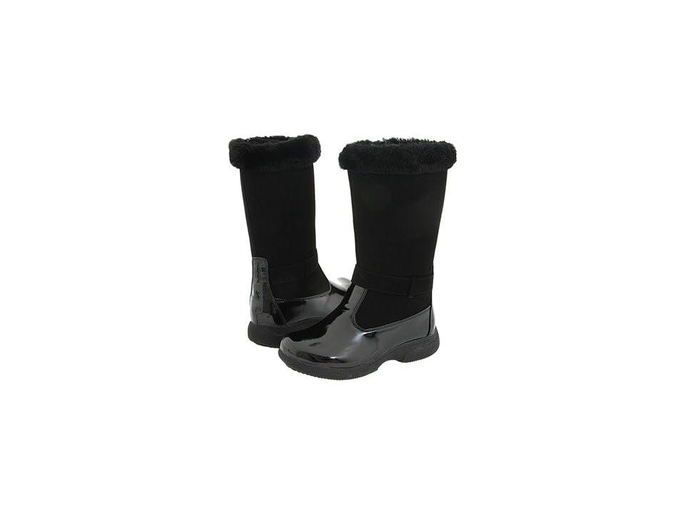 Tundra Boots Kids Sara (Little Kid/Big Kid) (Black) Girls Shoes