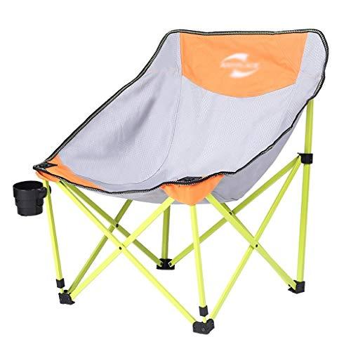 Bzsm Falten Folding Freizeit Stuhl Schmetterlingsstuhl Außen Klapp Mond Stuhl faul Stuhl, schnelle Faltung, geringen Platzbedarf, leicht zu tragen Camping (Color : Gray+Green)