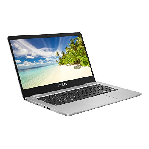 ASUS Chromebook C423NA 14 Inch Laptop, Intel Celeron N3350, 4 GB RAM, 64GB eMMC, Chrome OS