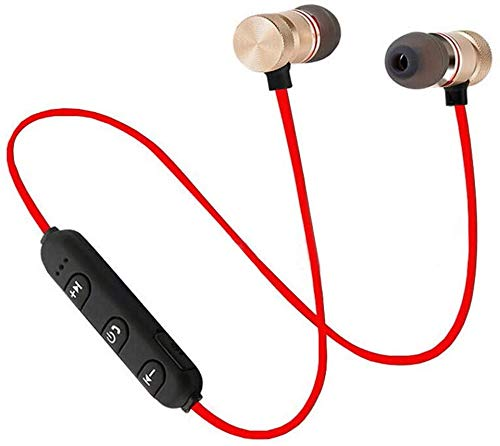 Wireless Bluetooth Headphones, Magnetic Attraction Sweatproof Earphones, in-Ear HiFi Bass Stereo Noise Cancelling Wireless Earbuds, Mini Sport Headset for Workout, Gym & Running