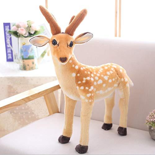 Sika Deer Peluches, Almohada para Abrazar De Algodón De Peluche Suave De Primera Calidad, Lindos Muñecos De Peluche De Ciervo, Niños, Niñas (60Cm)