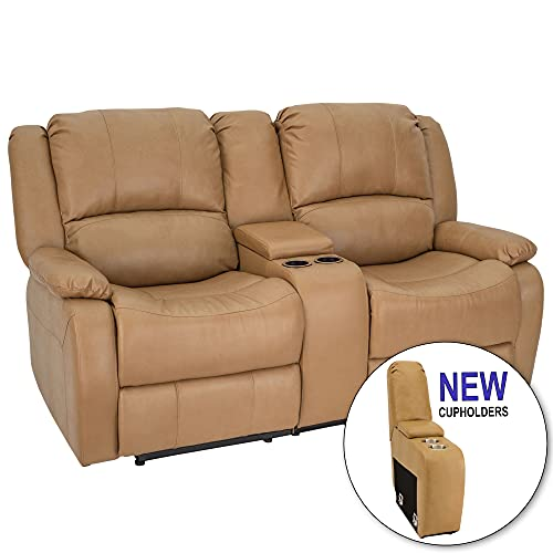 RecPro Charles Collection   67 inch Double Recliner RV Sofa & Console   RV Zero Wall Loveseat   RV Theater Seating