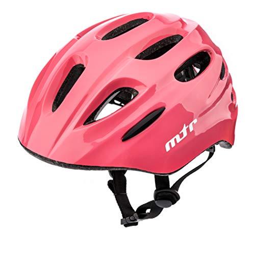 meteor Casco Bici ideale per bambini Caschi perfetto per Downhill Enduro Ciclismo MTB Scooter Helmet Ideale per Tutte Le Forme di attività in Bicicletta Helmo KS01 (S 48-52 cm, MTR pink)