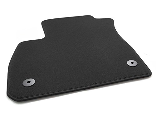 Fahrermatte Fußmatte Mokka (alle) Velour Automatte Original Qualität Fahrerseite schwarz