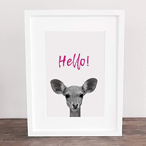 Bild, Deko, Poster, Kunstdruck, Fotografie, Reh, Bambi, Spruch