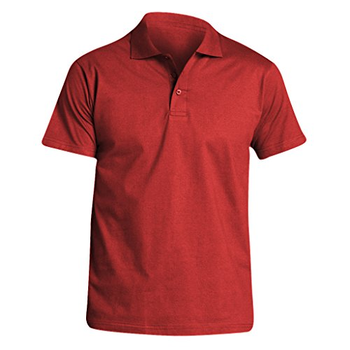Sols Herren Prescott Jersey Polo-Shirt, Kurzarm (Medium) (Rot)