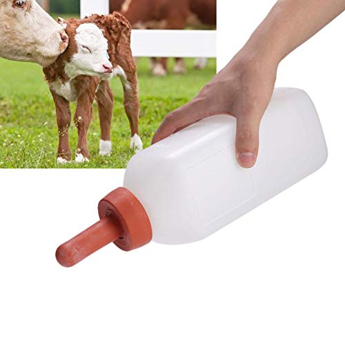 For Sale! Jadpes Horizontal Handleless Milk Bottle Milk Bottle, 2L Calf Cow Feeding Milk Bottle Cups...