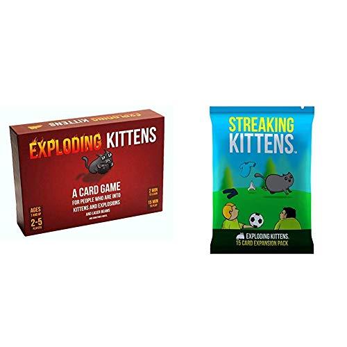 Xb Exploding Kittens: Un Juego de Cartas - En Inglés, Juegos de Fiesta para Toda la Familia - Juegos de Cartas para Adultos, Adolescentes y niños, Party Pack Game