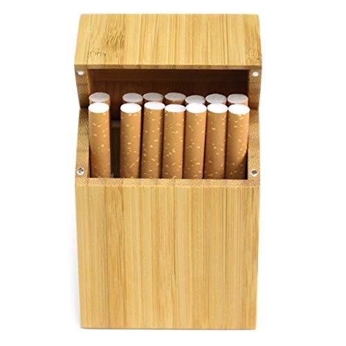 cdhgsh Zigarettenschachtel Holz mit Rosenholz und Kirschholz & Bambook Zigarettenetui Holz Zigarettenetui 2#
