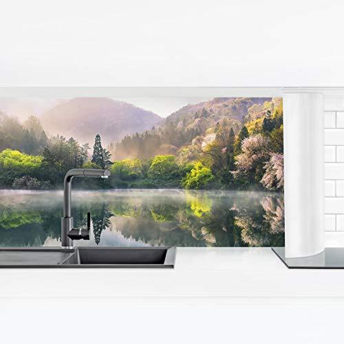 Bilderwelten Küchenrückwand selbstklebend Panorama Folie Bad - Morgenruhe Premium 50 x 175 cm