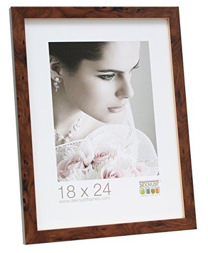 Deknudt Frames S43AG2 fotolijst, goudkleurige omranding, 20 x 28 cm, bruin