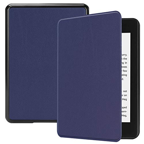 Lobwerk Custodia per Kindle Paperwhite 10. Generation 2018 - Smart Cover per e-Book Reader da 6', con Funzione Auto Sleep/Wake Blu Blu
