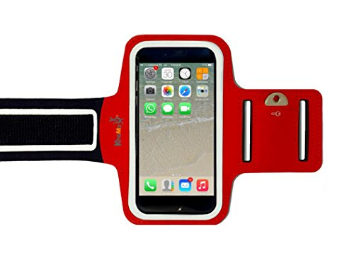 KHOMO APP-IPH-6SPLUS-ARMBAND-RED-ES Funda para teléfono móvil 14 cm (5.5') Brazalete Caso Rojo - Fundas para teléfonos móviles (Brazalete Caso, Apple, iPhone 6/6s Plus, 14 cm (5.5'), Rojo)