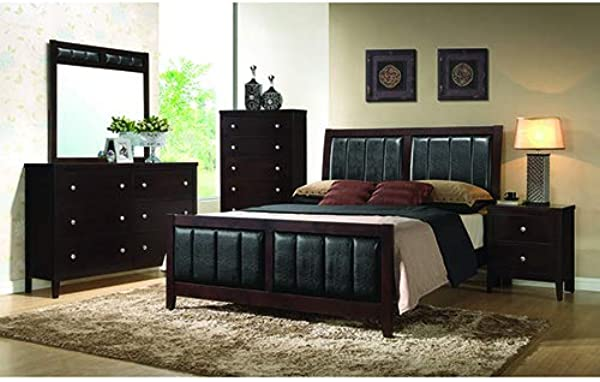 Coaster Home Furnishings 202091Q Upholstered Bed Black Cappuccino