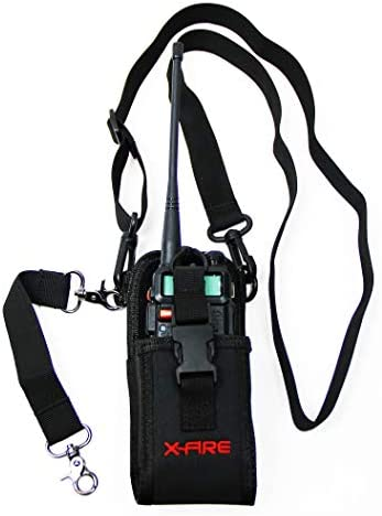 X FIRE Radio Strap Firefighter Washable EMS EMT Shoulder Holder Duty Belt Holster Combo w Anti product image