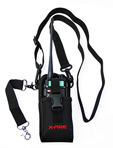 X-FIRE Radio Strap Firefighter Washable EMS EMT Shoulder Holder Duty Belt Holster Combo w/ Anti Sway Strap for Portable Tactical APX Two Way Ham Walkie Talkie Radios Scanner Fire LE Tactical Rescue